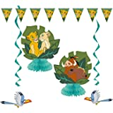 Unique Industries The Lion King Birthday Party 7 Piece Decorating Kit