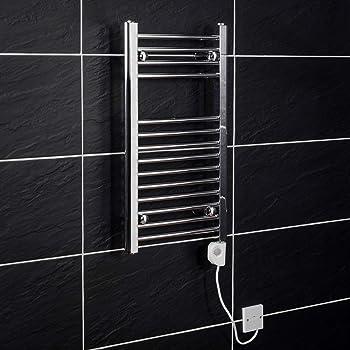 WRH-towel warmer Wand befestigter Edelstahl-elektrischer Badheizk/örper//Bad-Heizk/örper//Handtuchw/ärmer 9015