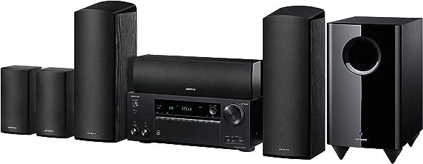 Onkyo 5.1 Heimkinosystem, HT-S7805-B, 160 Watt/Kanal, Multiroom, Dolby Atmos, WLAN, Bluetooth, Streaming, Musik Apps (Spotify, Tidal, Deezer), Radio, Front USB/HDMI/Audio in, Schwarz, 1500261