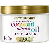 OGX, Mascarilla Coconut Miracle Oil, Repara y Revive, Cabellos Dañados y Frágiles, 168g