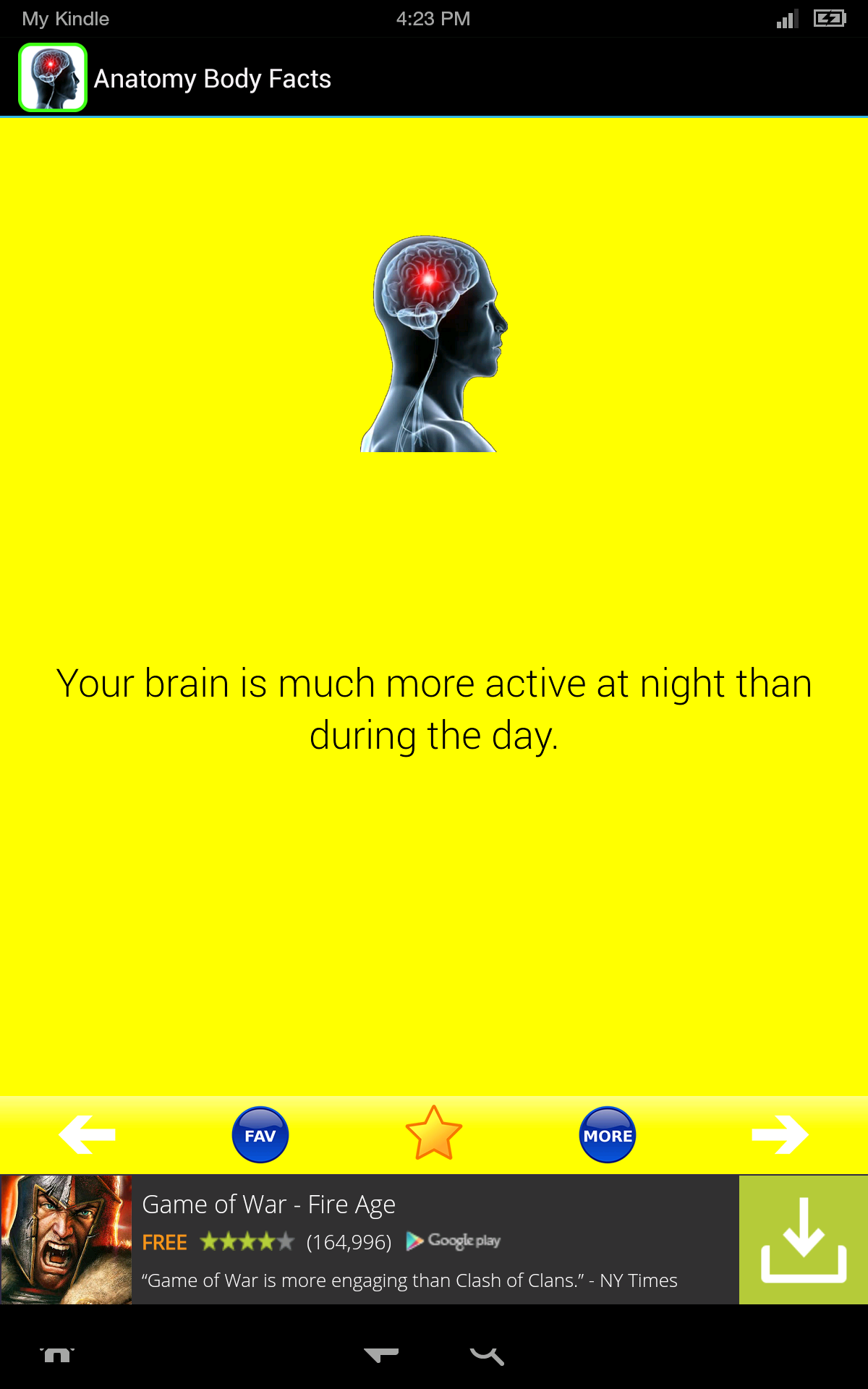Anatomy Body Facts! Fun Human Anatomy and Physiology Flash Cards app ...