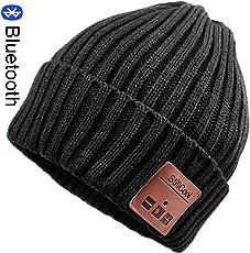 Bluetooth Mütze, StillCool Bluetooth Beanie Hut Warm Strickmütze Hat mit Stereolautsprecher, Mikrofon, Freisprechen. Wintermütze mit Bluetooth für Damen, Herrren, Mädchen, Jungend usw.Schwarz.