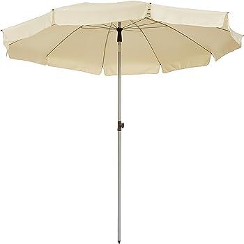 GoodSun Ombrellone da giardino BE, ecru, 240 cm, 10 stecche