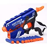 ARHA IINTERNATIONAL Blaze Storm Soft Bullet Gun Shooting Gun Toys with 5 Foam Bullets & 5 Suction Dart Bullets