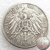 FKaiYin 1901 Deutsche Antike Alte Münzen - Deutsches Reich Münze - Unzirkulierte alte Münze - tolle Gedenkmünze Alte Münze Ge