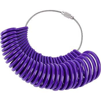 Diyiming 27Pcs Ring Gauges Finger Sizer Measuring Ring Tool Ring Sizer Gauges A-Z Measuring Ring Tool Jewellery Kit