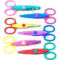 XYDDJYNL Ciseaux de bricolage pour enfants 6 motifs de couture pour bricolage Outils de création de ciseaux de bricolage