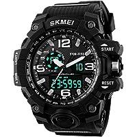 SKMEI Analog Digital Quartz Men's Watch with Silicone Strap - AD1155