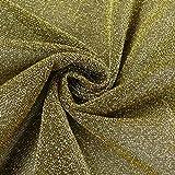 Lurexstoff Glitzerstoff Faschingsstoff elastisch Glitzer goldfarbig schwarz 1,5m Breite