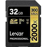 Lexar Profesjonalna karta 2000 x 32 GB SDHC UHS-II z czytnikiem, odczyt do 300 MB/s (LSD200032G-BNNAG)