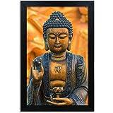 Home Attire HAP-1117 Gautam Buddha Painting, 12x18 inch, Black, 30.48 cm x 45.72 cm x 3.04 cm