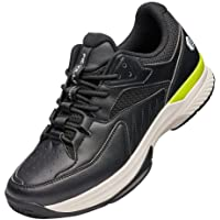 FitVille Mens Womens Wide Fit Tennis Court Shoes Breathable Trainers Non Slip Sports Sneakers for Badminton Pickleball