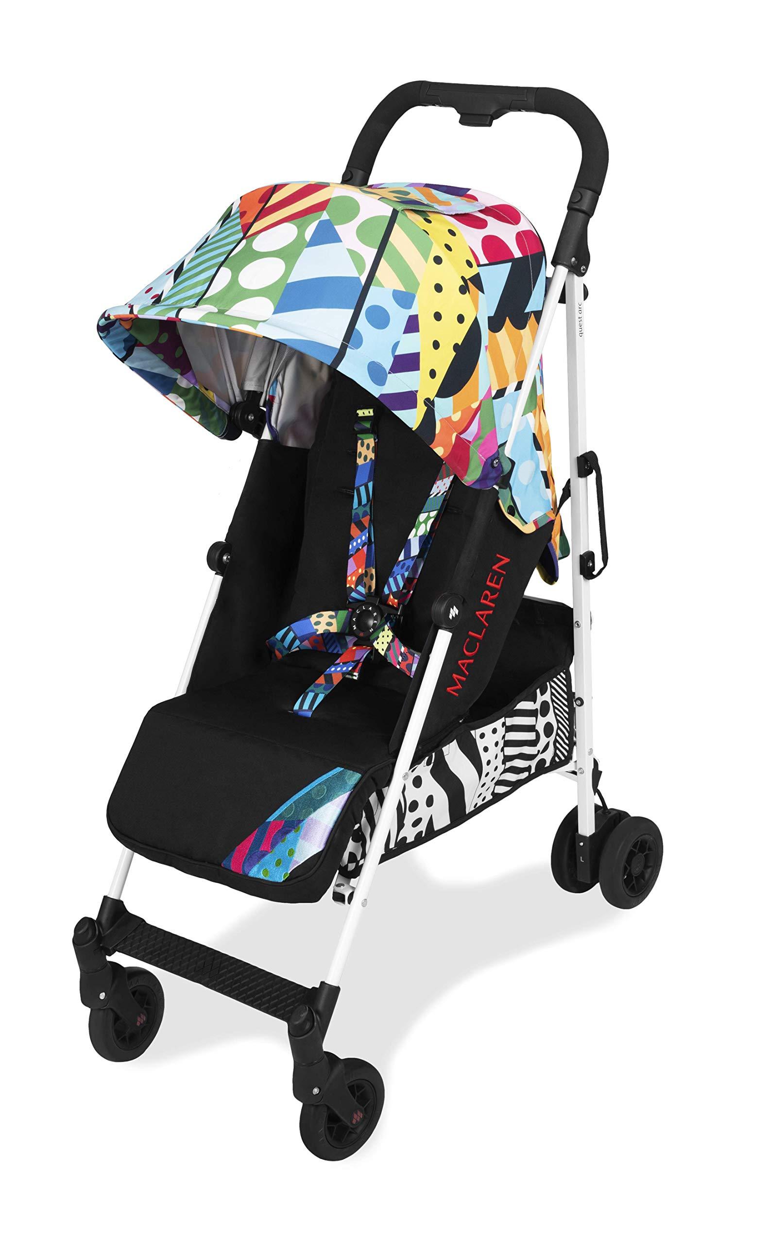 Maclaren Quest arc Silla de paseo ligero, manillar unido, para recién nacidos hasta los 25kg, Asiento multiposición, suspensión en las 4 ruedas