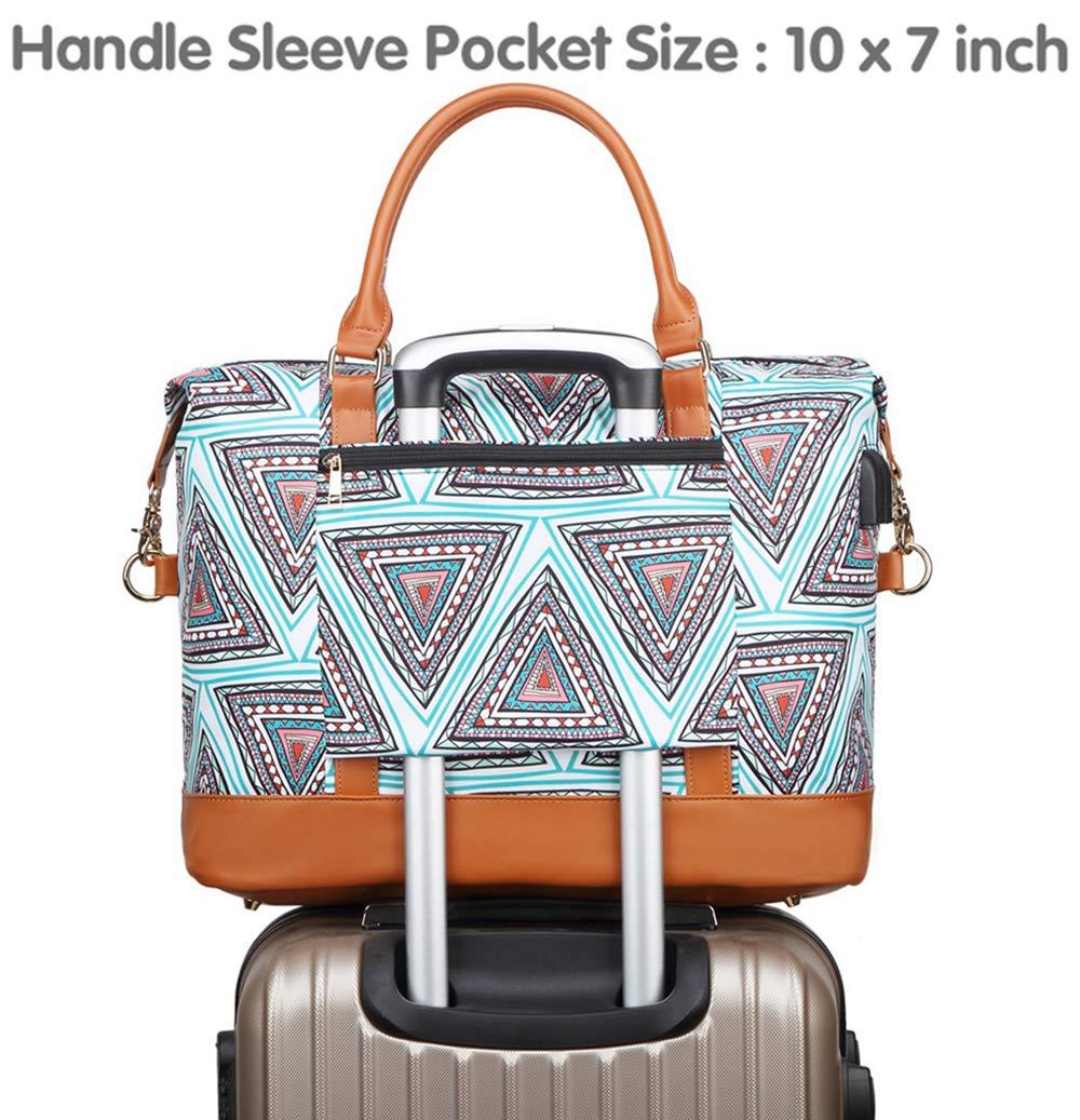 71Bgwo6tF8L - Bolso de Viaje Mujer de Mano Impermeable Bolso de Compras Grande Bolsa de Deporte Duffle Bag con Puerto USB para…