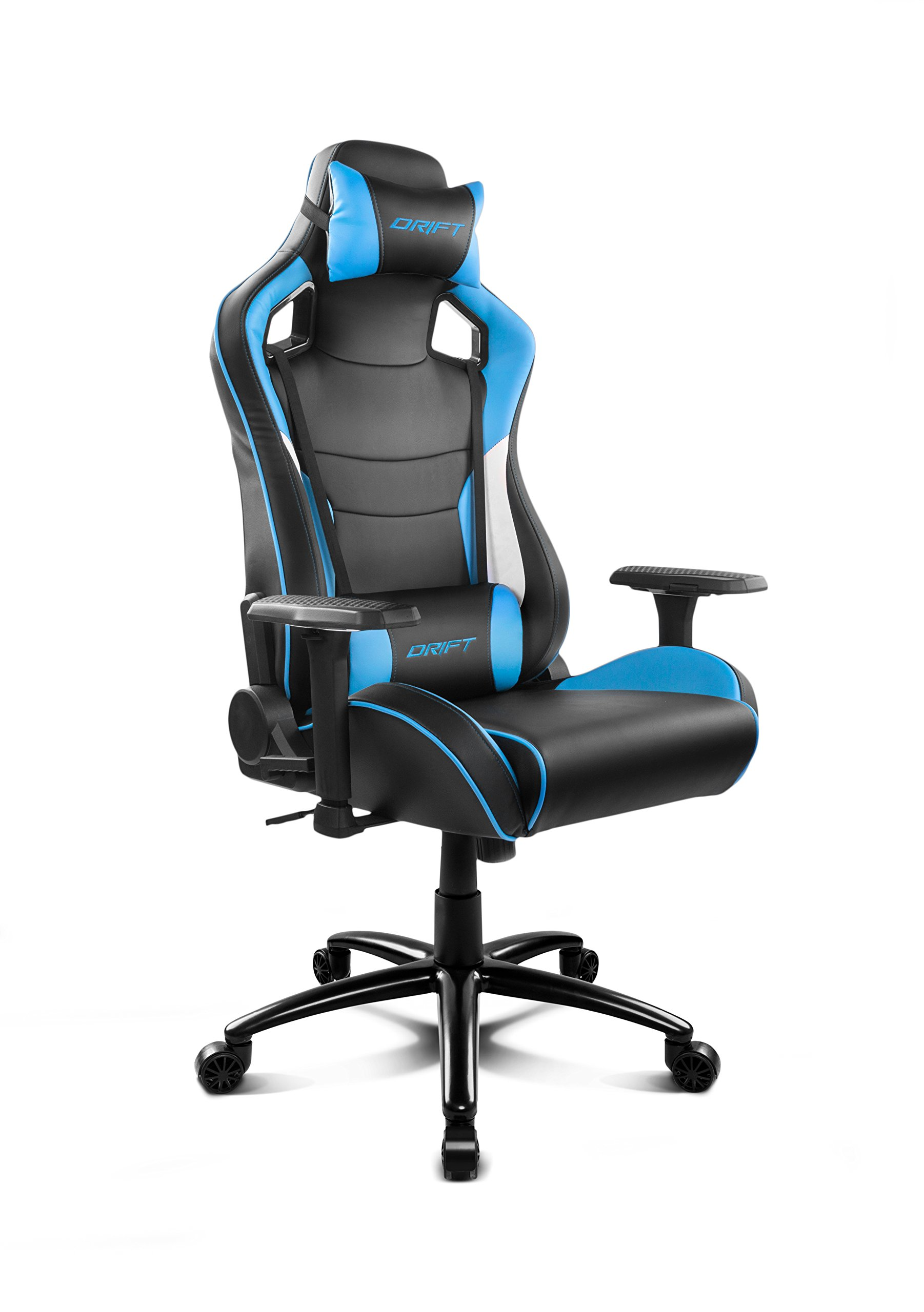 71Bh H83f9L - Drift DR400BL - Silla Gaming, Color Negro y Azul