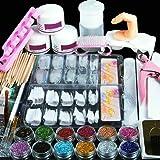 Saint-Acior Uñas de Gel Accesorio para Manicura UV GEL Uñas Postizas Lima de Uñas DIY Uña Arte Herramiento para Nail Art Jueg