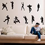 ALiQing Game Wall Decal Poster Music Skating Dancing Wall Stickers for Children Teenager Bedroom Playroom Wall Decoration (Bl