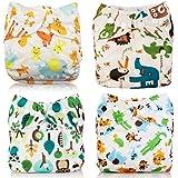 Giraffe Yeelan All-in-One Taschenfaser Mesh Baby Stoff Windel Waschbare wiederverwendbare Windeln Einsatz f/ür Kleinkinder /& Babys Gelber Fuchs