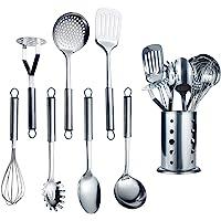 Berglander Ustensile de cuisine en acier inoxydable 7 pièces Avec 1 support, batterie de cuisine, cuillère de cuisson…