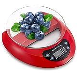 Bonsenkitchen Balance de Cuisine Numérique Balance Alimentaire Électronique de Haute Précision avec Fonction de Tare, Afficha