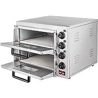 Summile WY1-2 pizza oven electric 3KW 220V professional Pizzaofen 350℃ pizza maker oven ofen 55 x 52x 43cm Zwei Regale…
