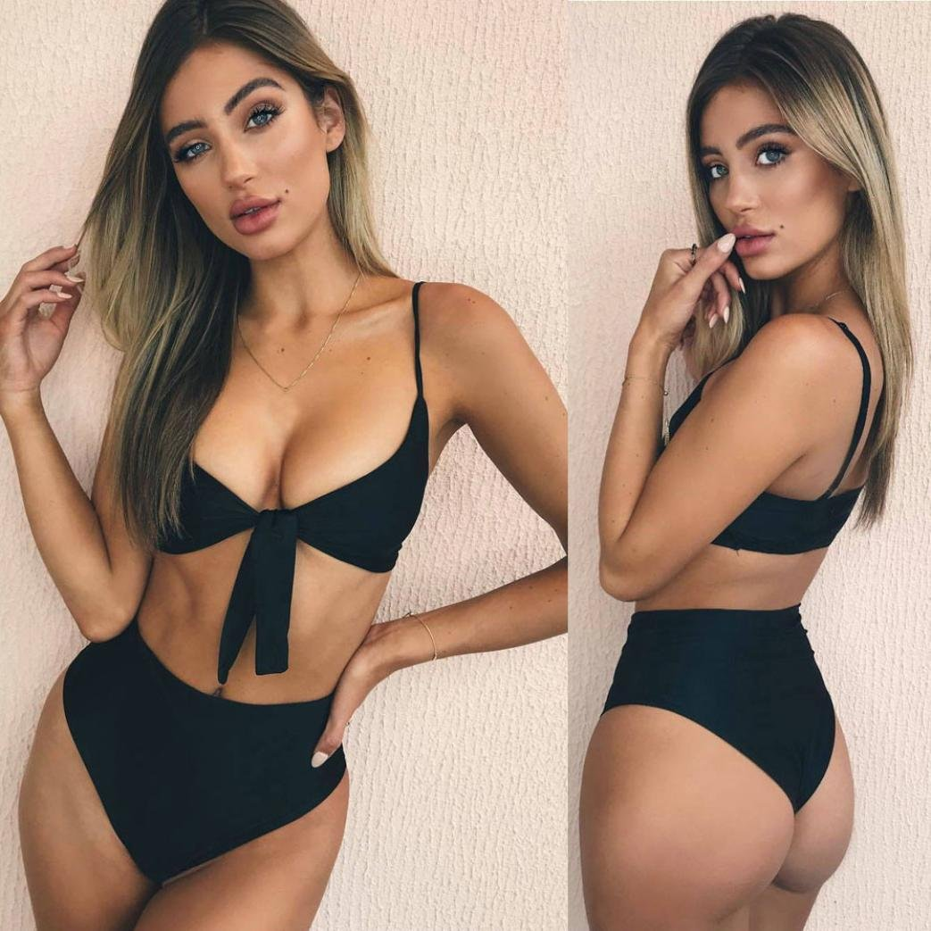 df9ad394a6af feiXIANG Bikini da Donna Estate Sexy Stampa Costumi da Bagno Due Pezzi  Ragazze Donne Bikini in Vita Alta Reggiseno Costume da Mare Push-up Mutande  Swimwear ...