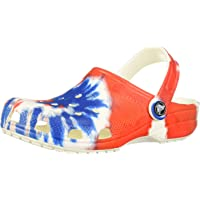 Crocs Unisex Adults' Men's and Women's Classic Tie Dye Clog | Comfortable Slip on Casual Water Shoe