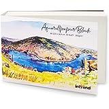INT!REND Papel de acuarela A6 | Cuaderno para acuarelas, 60 hojas, 300 g | Watercolor paper, cuaderno lettering, pinturas de