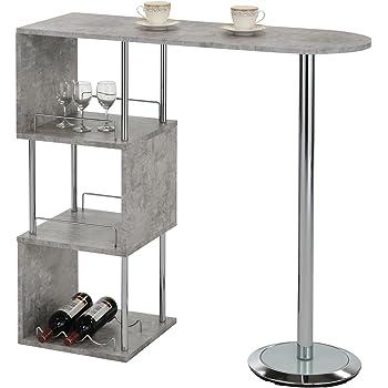 idimex bartisch stehtisch bartresen vigando grau in betonoptik mit stauraum und. Black Bedroom Furniture Sets. Home Design Ideas