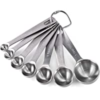 U-Taste Cuillère Doseuse en Acier Inoxydable 18/8 Lot de 7 Cuillères Mesureur Cuisine: 1/8 tsp, 1/4 tsp, 1/2 tsp, 3/4…