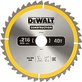 DeWalt DT1953 Bouwcirkelzaagblad voor stationaire zagen/cirkelzaagblad (216/30 mm 40 WZ, universeel gebruik en dwarsdoorsnede