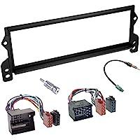 Sound-way Kit Montage Autoradio, Cadre Façade 1 DIN, Cable Adaptateur Connecteur ISO, Adaptateur Antenne, Compatible…
