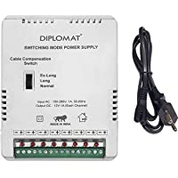 Elove 5 Amp (12VDC) 8 Channel Power Adapter Supply (SMPS) for CCTV Security Bullet & Dome Camera