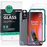 Ibywind [Pack van 2] Screen Protector voor Oneplus Nord 2 5G,met Cameralens beschermfolie(Zwart),Back Carbon Fiber beschermfo