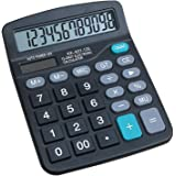 HZFJ Calculator, 12-bit Solar Battery Dual Power Standard Function Electronic Calculator with Large LCD Display Office Calcul