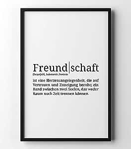 Papierschmiede Definition: Freundschaft   DIN A3   Poster
