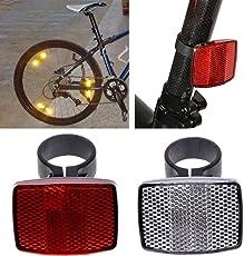 Yunso Fahrradreflektor Vorne Hinten Warnleuchte zur Sicherheit, Kunststoff