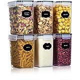 Aitsite Boîte de Conservation Alimentaire 6 Pcs, Boîtes de Rangement pour Céréales sans BPA Récipient de Stockage en Plastiqu