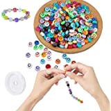PATPAT® 100pcs Smiley Face Beads, Emoji Beads for Jewelry Making for DIY Jewelry Bracelet Earring Necklace Craft Making Suppl