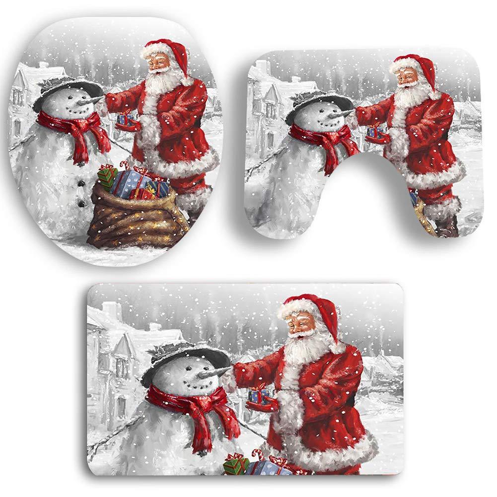Bontime 3 pezzi babbo natale e pupazzo di neve coprivaso e - Decorazioni per il bagno ...