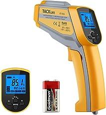 Infrarot Thermometer -50 °C bis +550 °C, Tacklife IT-T05 Dual Digital Laser Thermometer| Pyrometer| berührungsloses Temperaturmessergerät, mit einstellbarem Emissionsgrad, Hoch-/ Niedertemperatur Alarm, Max/ Min/ Avg Measure