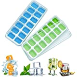 Ice Cube Trays with No-Spill Removable Lid,Easy-Release Silicone,Flexible Ice Cube Molds,LFGB Certified and BPA Free…