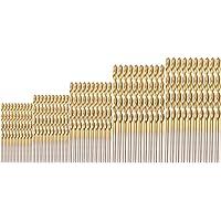 50 tlg Spiralbohrer Set 1mm,1.5mm,2mm,2.5mm,3mm HSS Bohrer Set Titanium Metallbohrer Handspiralbohrer Micro Bohrersets Werkzeuge Profi Drill Bit für Holz,Metall,Glas(Einjährige Qualitätssicherung)