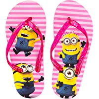 Kids Girls Licenced Minions Flip Flop 'You are 1 in a Minion' Outdoor Beach