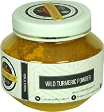 Crafts and Spices - Ayurvedic Natural Wild Turmeric/ Kasthuri Manjal/ Jangli Haldi / Curcuma Aromatica (250 Gm) 100 % Pure