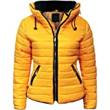 Malaika ® Ladies Quilted Padded Puffer Bubble Fur Collar Warm Thick Womens Jacket Coat - Avaiable in PLUS SIZES (Extra Small