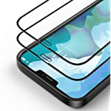 Bewahly Skärmskydd för iPhone 12 Pro Max [2-pack], 3D heltäckande härdat glasfilm med installationssats kompatibel för iPhone