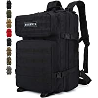 Doshwin 40L Military Backpack Tactical Army Assault Pack Molle Camo Rucksack for Camping Trekking Travel Hiking