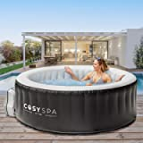 CosySpa Inflatable Hot Tub Spa – Outdoor Bubble Jacuzzi   2-6 Person Capacity – Quick Heating   NEW 2021 Model (Hot Tub…