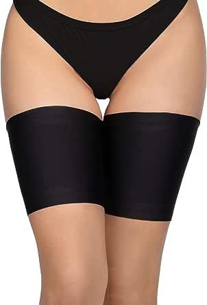 Annes styling Fasce elastiche anti-sfregamento per cosce, da donna, in silicone antiscivolo, rivestite in raso e pizzo